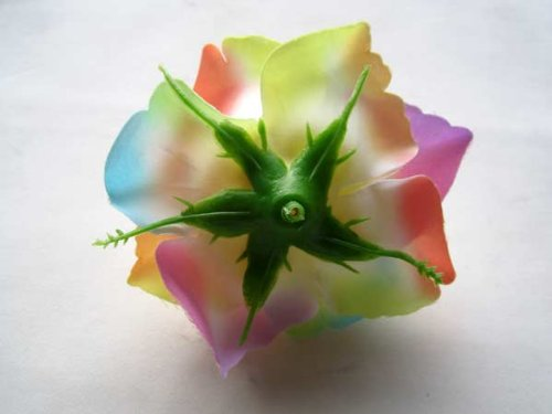 4-BIG-Light-Rainbow-Silk-Roses-Flower-Head-375-Artificial-Flowers-Heads-Fabric-Floral-Supplies-Wholesale-Lot-for-Wedding-Flowers-Accessories-Make-Bridal-Hair-Clips-Headbands-Dress