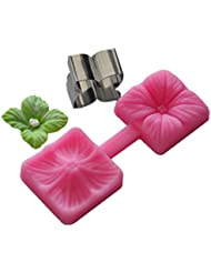 FOUR-C Sugar Craft Tools Flower Fondant and Gum Paste Mold Color Pink