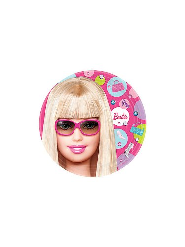 Types Costumes Of Barbie (Barbie Dessert Plates)