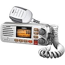 Uniden UM380 25 Watt Fixed Mount Marine VHF Radio, Class D, DSC, Waterproof Level IPX4/JIS4. S.A.M.E. Emergency/NOAA Weather Alert. USA/International and Canadian Marine Channels - Color White