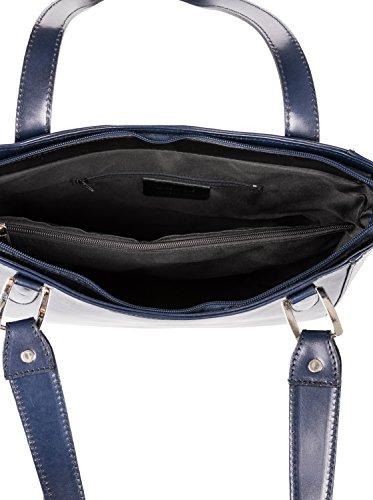 Azul Única Oscuro Hombro Firenze al asa Bolso Sormani 8Ha7P4WO4