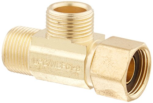 Mueller Industries 993-016NL Low Lead Supply Stop Extender Tee 3/8-Inch by 3/8-Inch by 3/8-Inch