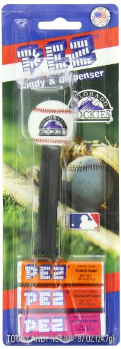 (PEZ MLB Candy Dispensers, Colorado Rockies, 0.87 Ounce (Pack of 12))