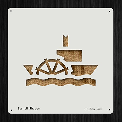 - Steamboat Boat Ferry River Ship Style 3576 DIY Plastic Stencil Acrylic Mylar Reusable