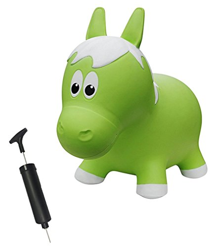 Farm Hoppers Award Winning Inflatable Bouncing Lime Green Horse With Pump