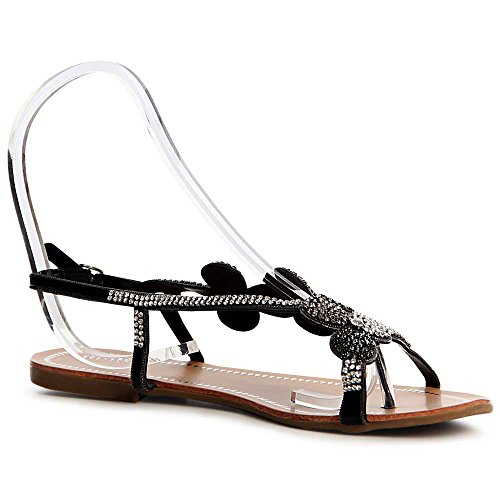 Topschuhe24 Topschuhe24 Sandalettes Sandales Femmes Femmes Noir 85wdxqx
