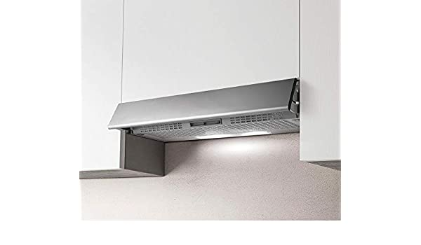 Campana extractora de cocina integrada, instalación bajo armario, de 90 cm, extraíble, GR-FR.IX/F/90: Amazon.es: Grandes electrodomésticos