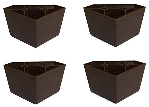 Brown Triangle Plastic Sofa Legs - Set of 4