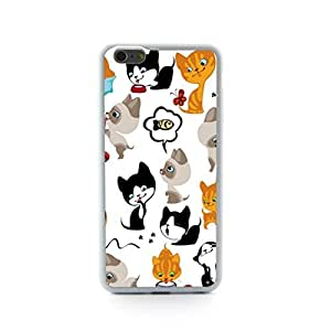 CaseCityLiu - fish Cartoon Cat Design Hard Case Cover for Apple iPhone 5 5s 5th 5g 5Generation Come With FREE Non Woven Packing Bag