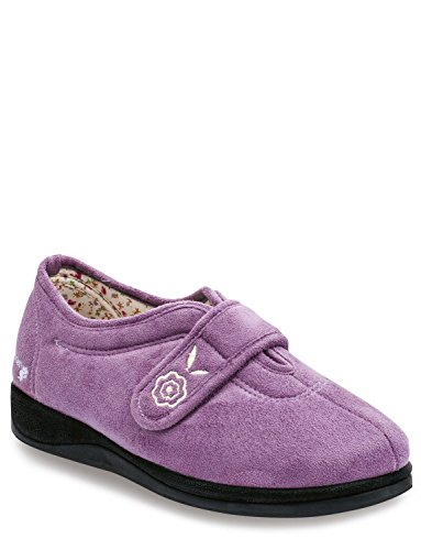 Camilla Padders Ee Extra Chums Ladies Slipper Lavender Wide Fitting XR0x7xq5