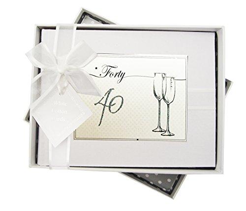 White Cotton Cards - Álbum de Fotos de cumpleaños Edad 40 ...