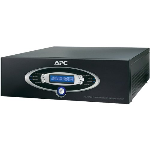 APC J15BLK 12-Outlet J-Type Power Conditioner with Battery Backup (Black; 4,500 Joules; 1,500VA; 865 Watts) by APC (Image #1)