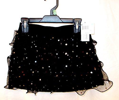(K-mart Black Stardot Ruffled Skort Child Costume L 10-12)