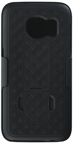- Galaxy S7 Case, Heavy Duty Samsung Galaxy S7 Belt Clip Case Super Slim Hard Shell Holster Clip Cover with Kickstand and Swivel Belt Clip for Galaxy S 7 Cell Phone Black