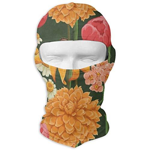 Balaclava Flowers Tropical Full Face Masks UV Protection Ski Hat Womens Headwear for -