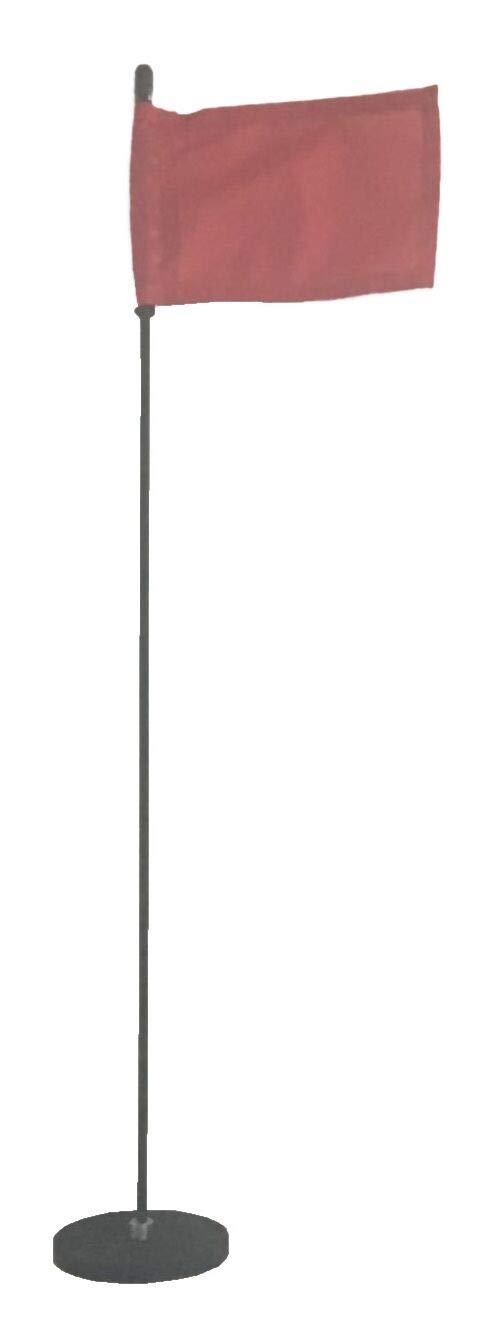 Magnetic Base Flag Holder - Hold Force 99 lbs. Flex Steel Spring Pole 24 inch (4 x 6) Red Flag