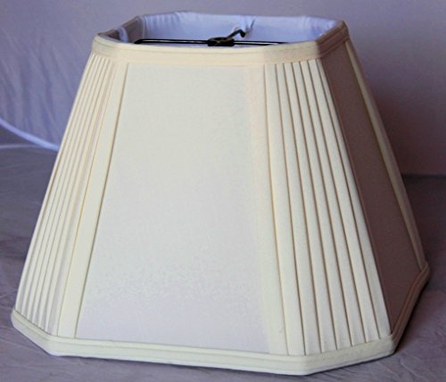 Lamp Shade Pleated Shantung wide CREAM
