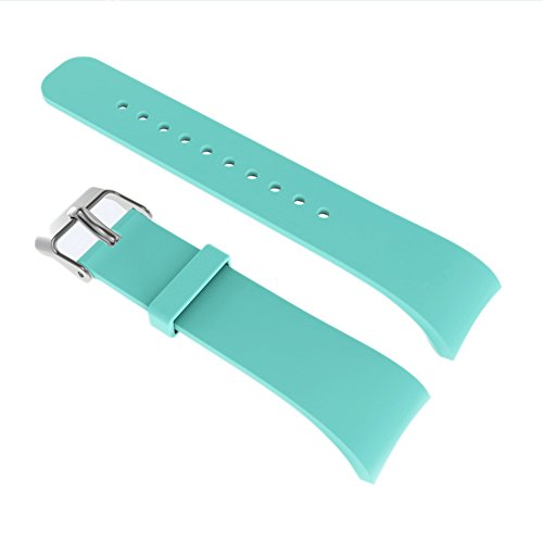 For Samsung Gear Fit 2 Band/Gear Fit 2 Pro Band, Silicone Replacement Bands Accessories Bracelet Strap Wristband for Samsung Gear Fit2 Pro SM-R365/Gear Fit2 SM-R360 (Mint Green) (Gear Fit 2 Pro Vs Gear Fit 2)