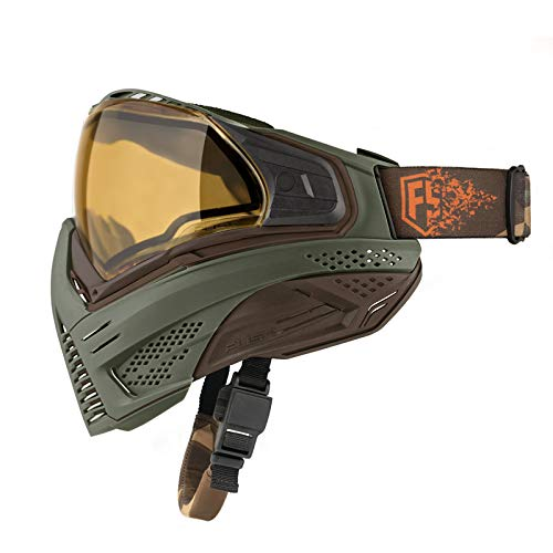 First Strike Push Unite LE Paintball Goggles Mask Olive/Brown by First Strike