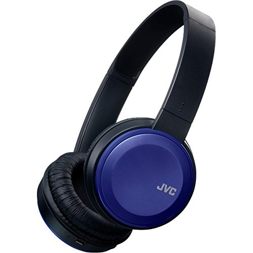 JVC Wireless Lightweight Flat Foldable On Ear Bluetooth Wireless Headband with Mic Blue (HAS190BTA) (Jvc Bluetooth Headphone)