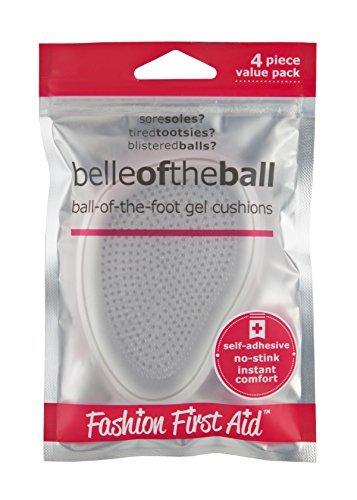 Belle of the Ball: Ball of Foot Gel Shoe Pads High Heel Pain Relief, 4 Cushions