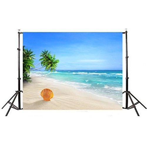 Price comparison product image Seascape Beach Dreamlike Haloes Photography Background Studio Props Backdrop 5x3FT Durable (Multicolour C)