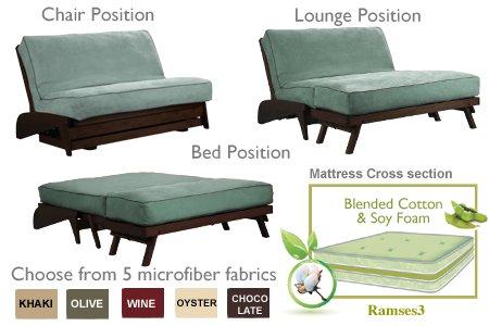 the futon shop dillon black walnut full love seat olive wall hugger sofa bed   love amazon    the futon shop dillon black walnut full love seat      rh   amazon