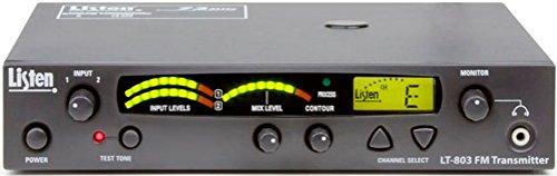 Listen Technologies LT-803-072-01 High Power Stationary 3-Channel RF Transmitter (72 MHz), Dark Grey with White Silk Screening, Transmission Range Up to 305 m (1000 ft.), Look & Listen LCD Display (Channel Stationary)