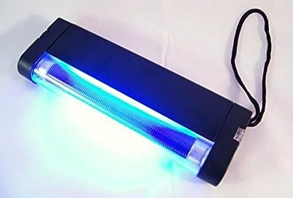 Neon luz Wood Lámpara UV de billetes falsos con linterna LED