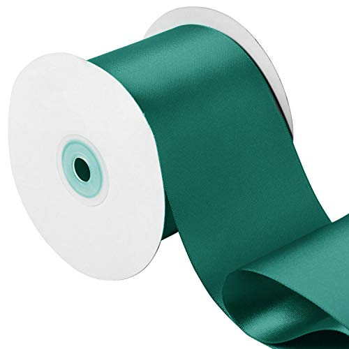LaRibbons 3 inch Wide Double Face Satin Ribbon - 25 Yard (347 Teal)