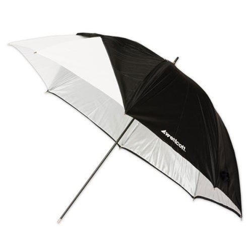 (Westcott 2016 45-Inch Optical White Satin with Removable Black Cover Umbrella)