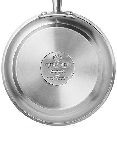 Culinary Science - 14 Piece Re-Inforced Ceramic Non-Stick High End Gourmet Cookware Set By Martha Stewart - Cook Excellent Meals With Little To No Fat