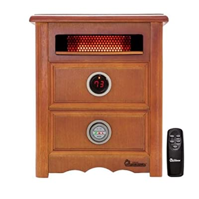 Image of Dr Infrared Heater DR999, 1500W, Advanced Dual Heating System with Nightstand Design, Furniture-Grade Cabinet, Remote Control Home Improvements
