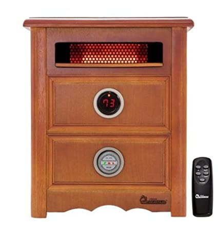 Dr Infrared Heater DR999, 1500W, Advanced Dual Heating System With  Nightstand Design, Furniture