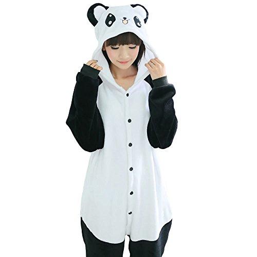 Y&T Unisex Kigurumi Adult Onesie Pajamas Christmas Cosplay Costumes Homewear Panda L (Panda Costume Adult)