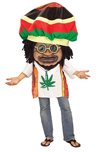 (Forum Novelties Men's Parade Pleasers Rasta Mon Big Head Costume, Multi, Standard)