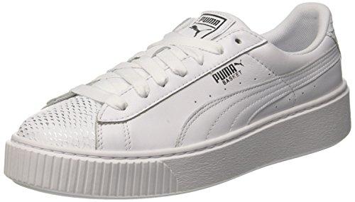 Puma White Blanc Basket Femme Wn's puma Sneakers Silver Ocean Basses puma Puma Platform White 8Hn0O1Hq