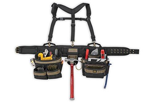 Custom LeatherCraft 6714 31 Pocket, Heavy Duty Framers 5-Piece Comfortlift Combo Tool Belt - Leather 31 Pocket