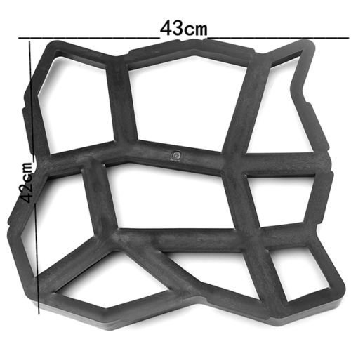 42cm DIY Plastic Path Maker Mold Manually Paving Cement Brick Stone Road Auxiliary Tools by Zimo®