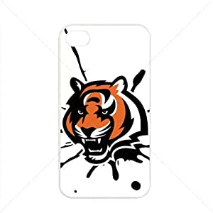 NFL American football Cincinnati Bengals Case For Iphone 6 Plus (5.5 Inch) Cover PC Soft (White)