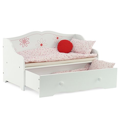 Daybed and Trundle Fits American Girl Dolls | Stylish Floral 18