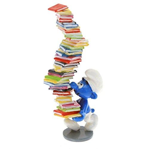 Figurine de collection Pixi Le schtroumpf tenant une pile de livres 6417 (2016)