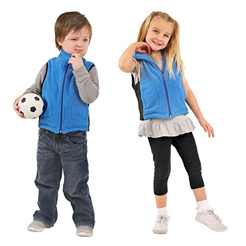 ZooVaa Weighted Vest for Kids - Children's Weighted Compression Fleece Vest w/Removable Weights - Small - 16-CCT-380SFB