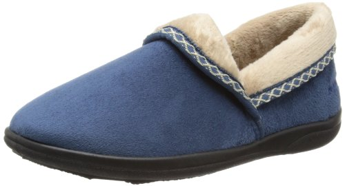PADDERS Womens Mellow Microsuede Full Slipper (460/29) Denim Blue fd9ne