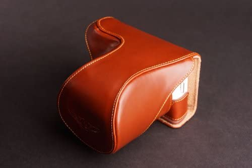 Handmade Genuine real Leather Full Camera Case bag cover for Sony NEX5N NEX-5N Brown color