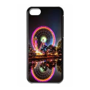 iPhone 5C Phone Cases Black Vintage Ferris Wheel FNR735672