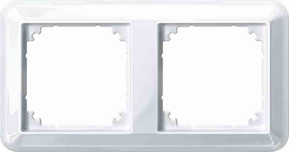 Merten ATELIER-M-Rahmen, 2 fach, polarweiß glänzend, 388219 | eBay