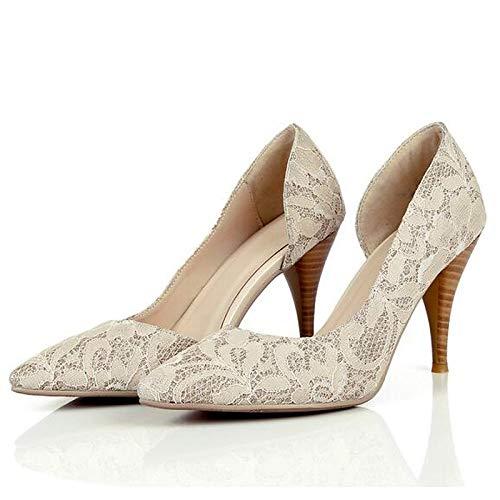 QOIQNLSN Zapatos De Mujer Synthetics Primavera Bomba Básica Tacones Stiletto Talón Negro/Rosa Black