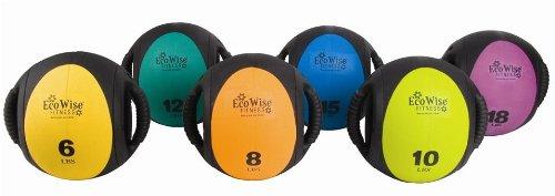 AGM Group 85762 EcoWise Dual-Grip Medicine Ball - Tangerine-Black