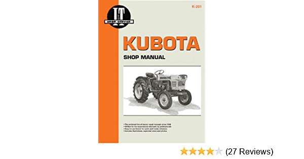 kubota shop manual i t shop service manuals penton staff rh amazon com Kubota L4740 Service Manual Masataka Kubota